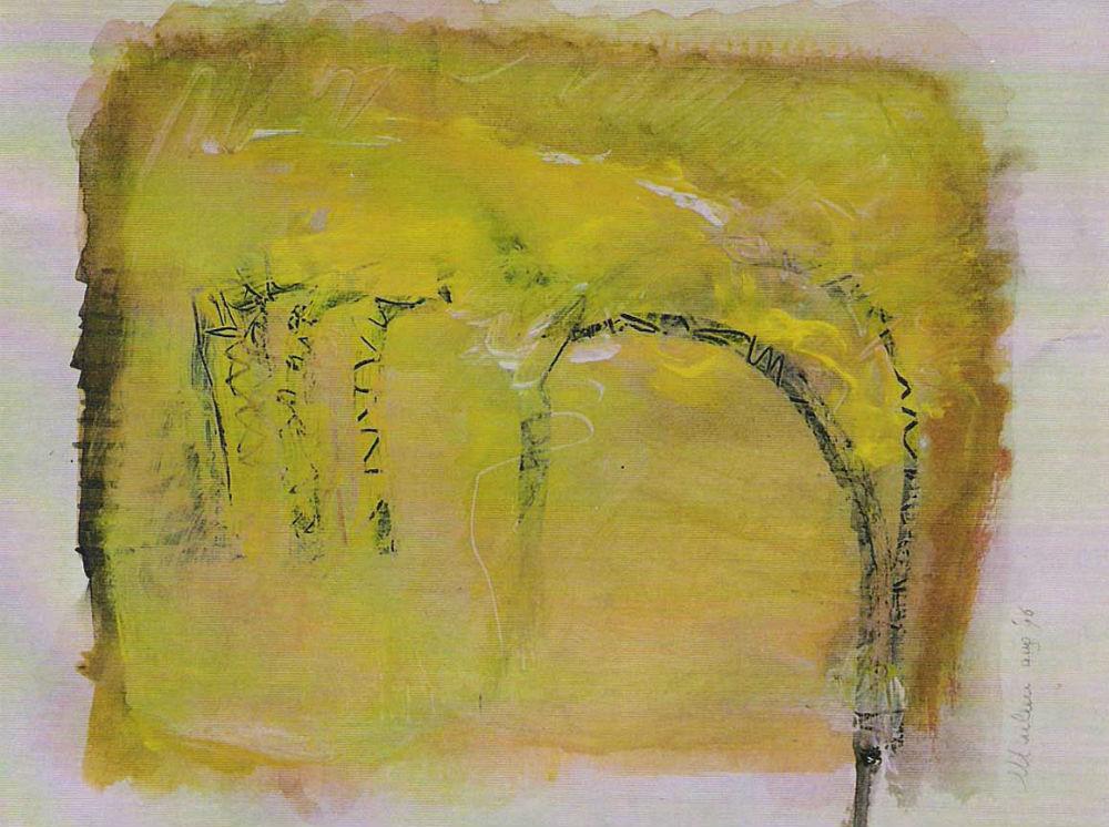 nr. 12 - Z.T. - acryl op papier - ingelijst - afm. 40-30 cm .