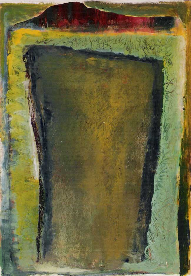 nr. 19 - Z.T. acryl op papier - ingelijst - afm. 53 - 63 cm.