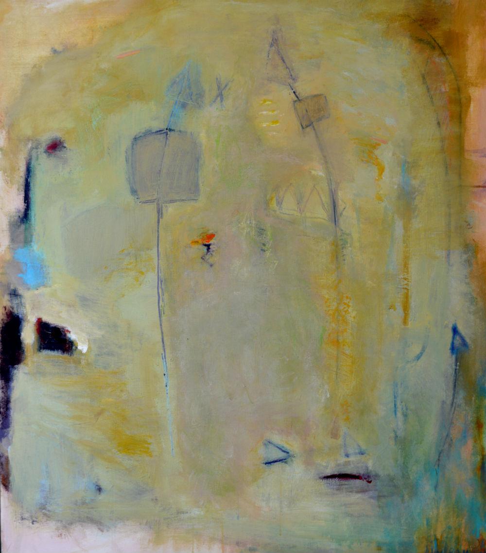 nr 21 - Z.T. - acryl op doek - ingelijst - afm. - 1.06 -1. 23 m.