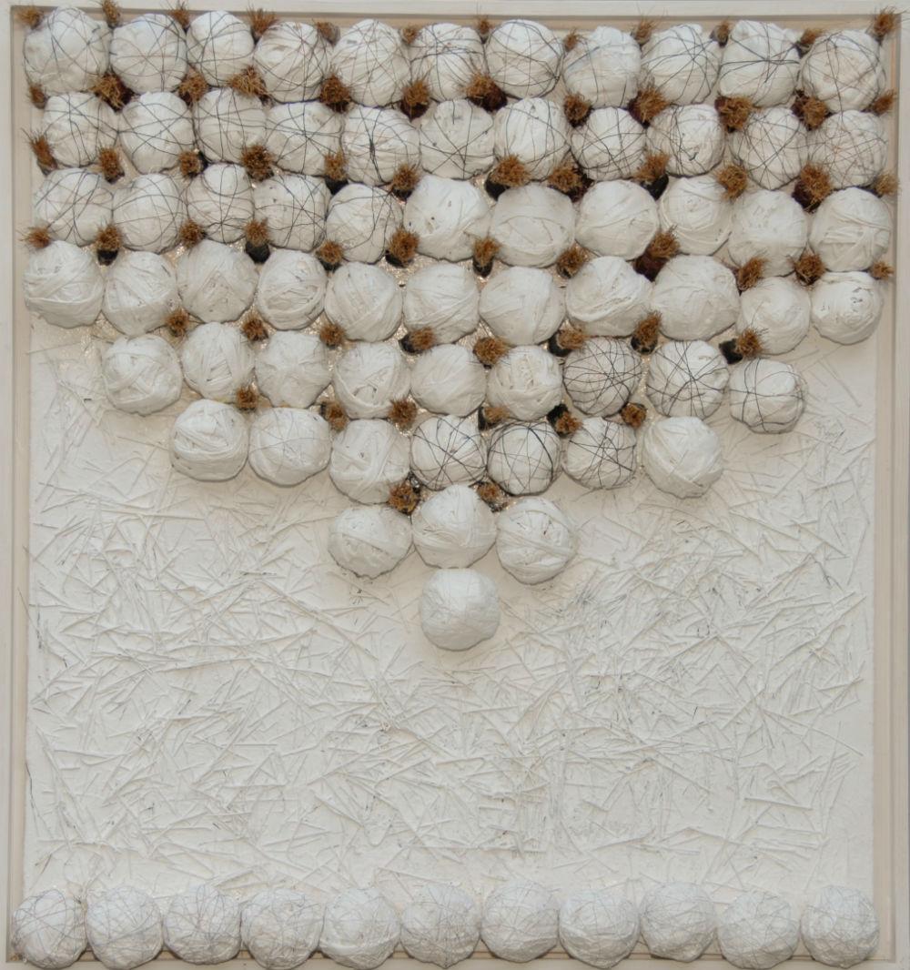nr 7 - Z.T. Textiel-borstels - afm. 60-40 cm.